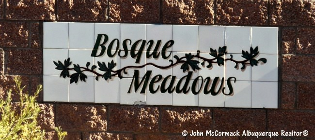 Bosque Meadows Homes For Sale_Neighborhood Sign