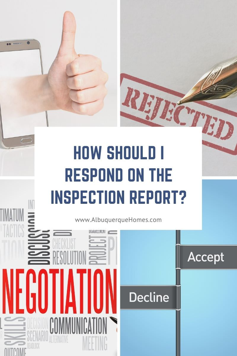 How Should I Respond on the Inspection Report?